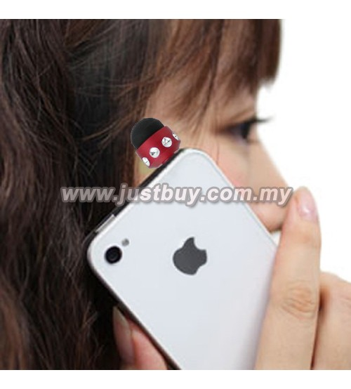 Earphone Jack Dust Plug Mini Diamond Stylus Pen